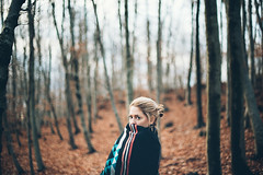 December lights II (jonny_weissmueller) Tags: vienna autumn winter forest scarf austria decke blanket wienerwald femaleportrait blondhair nikkor50mm14 peopleinnature nikond750