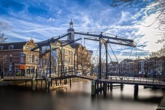 Appelmarktbrug - Schiedam (koolbram) Tags: bridge blue sky holland history water netherlands architecture clouds nikon europa europe day harbour outdoor nederland historic nd brug hdr schiedam zuidholland geschiedenis benelux d90 nd110