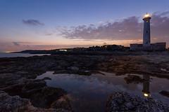 lighthouse (cristianolamantia) Tags: sunset sea lighthouse clouds faro tramonto nuvole mare sicily riflessi luce sicilia canon550d