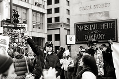 Protesters & Shoppers (johnlishamer.com) Tags: christmas xmas city family winter chicago beautiful john nikon december jane sunny macys bette protests statestreet marshallfields protesters christmastime christmascard chicagoil 2015 d7000 lishamer johnlishamercom johnlishamer