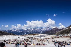 Rohtang Valley (sushilpatro) Tags: sky snow mountains cold ice clouds commercial valley rohtang