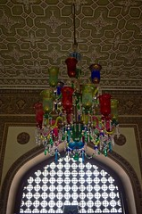 Colorful glass zumber from Chowmahalla Palace (Y-O-G-E-S-H) Tags: lighting blue red sunlight india glass yellow architecture nikon colorful mesh decorative decoration palace ceiling historic hyderabad incredible nizam hyd incredibleindia chowmahalla zaroka d5100 zumber