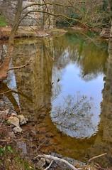 Arche sur l'Arc (Charlottess) Tags: france reflection january paca reflet janvier aqueduc bouchesdurhne provencealpesctedazur roquefavour