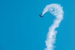 ? (camerue) Tags: trails plane blue sky air