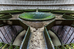 _O7A8952 (AntonyCASAFilms) Tags: urbex ue abandoned derelict cooling tower power station belgium green moss concrete