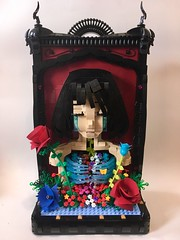 (xviloria) Tags: lego popsurrealism eroguro marishimizu   hakkachan  art crying tears sad sadness doll anime girl flowers rose ribcage