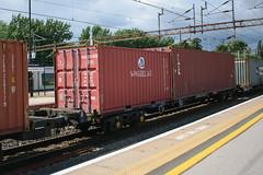 93351 Northampton 040816 (Dan86401) Tags: 93351 tiph93351 93 kfa freightliner fl intermodal modal container flat wagon freight tiph touax rautaruuki northampton wcml 4l90 magellan tex