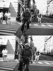 [La Mia Citt][Pedala] (Urca) Tags: milano italia 2016 bicicletta pedalare ciclista ritrattostradale portrait dittico nikondigitale mir bike bicycle biancoenero blackandwhite bn bw 89855