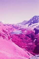 Lago Fedaia (fra_padovani) Tags: om2n olympus hoya shootfilm fpp infrared aerochrome