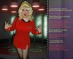 Transporter Accident! (rgaines) Tags: costume cosplay crossplay drag startrek tos dragqueen halloween funny humor yeomanjanicerand