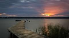 Starnberger See sunset (florian.diebold) Tags: pier pischetsrieder clouds longexposure nd sunset germany bayern bavaria starnberg starnbergersee jetty