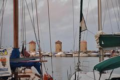 Mandraki Harbour & Windmills (Pedro Costa Ferreira) Tags: rhodes rhodesisland mandraki harbour windmills