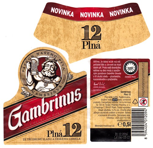 Gambrinus Plná 12°, Pilsen, 2016