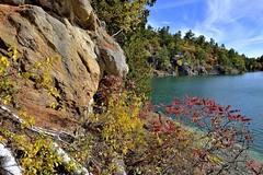 Pink Lake (Roger Daigle) Tags: pink lake gatineau park quebec autumn trail nikon
