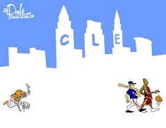 1016 cle champs cartoon (DSL art and photos) Tags: editorialcartoon donlee ohio clevelandcavaliers clevelandindians clevelandbrowns basketball baseball football nbachampions alcschamps worldseries championships sports cleveland