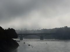 Rhein an einem Oktobermorgen (thobern1) Tags: basel bale rhein rhin river fluss strom brcke nebel fog oktober bridge pont