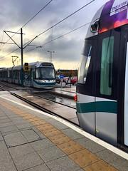 Incentro trams, Hucknall 23/11/16 (Fav77) Tags: lightrail tram incentro hucknall 207 204