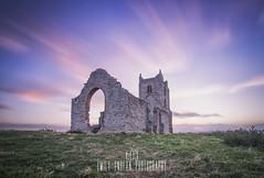 Dusk at Burrowbridge. (Emily_Endean_Photography) Tags: burrow burrowbridge somerset mump mound ruins church stmichael clouds lee leefilters longexposure nikon sunset dusk colours uk england