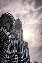 Twin Towers (Karthikeyaudupa) Tags: kuala lumpur malaysia towers petronas twintower skyline skyscrappers bright buildings