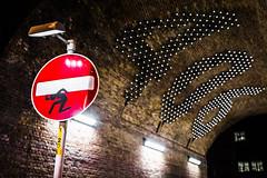 Heavy Load (Sean Batten) Tags: london england unitedkingdom gb roadsign southwark nikon df 406 lights tunnel streetphotography street night nighttime city urban