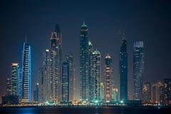 dubai marina (*Niceshoot*) Tags: alpha a7mii sony a7m2 sonyilce7m2 a7ii 24105mm sigma24105mmf40dgoshsm sigma dubai marina dubaimarina desert wste uae vae vereinigtearabischeemirate hochhuser skyscraper urban architektur architecture cityscape skyline wasser water night nacht lights light licht