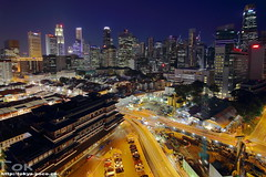 downtown () Tags: skyline skyscraper sunset singapore downtown cbd chinatown citynight cityskyline cityspace