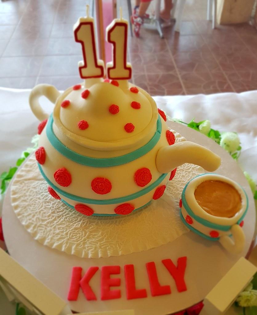Tea Pot Cake DC Cafe Roxas Tags Cup Party Fondant Birthday