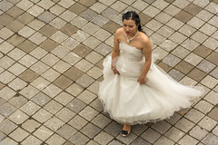 Bridal path (stevefge) Tags: china shanghai street people candid women brides white dress