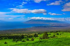Kehei, HI (milepost430media.com) Tags: kehei hawaii paradise maui wailea green grass pasture sky blue clouds volcano mountain trees resort vacation holiday travel landscape rocks windturbine town 70d dslr