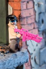 LEGO Bikini Commando (edwicks_toybox) Tags: bikinicommando eclipsegrafx girlswithguns lego minifigure
