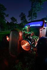 Twin Turbo (Nocturnal Kansas) Tags: night nocturnal nocturnalkansas moonlight fullmoon lightpainting ratrod ford turbo turbocharged rust d800 nikon flashlight led1 protomachines