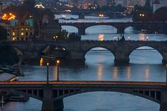 Game of Bridges (dlerps) Tags: czech czechrepublic daniellerps prague praha sonyalphaa77 cz lerps prag tschechien sony sonyalpha sigma a77 sonyalpha77 sonya77 europe europa bohemia bohemian bridges vltava river water dusk bluehour charlesbridge lights light night evening