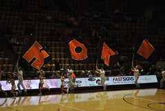HERE COME THE HOKIES (SneakinDeacon) Tags: acc vt vatech hokies cassellcoliseum cheerleaders bigsouth basketball panthers highpoint