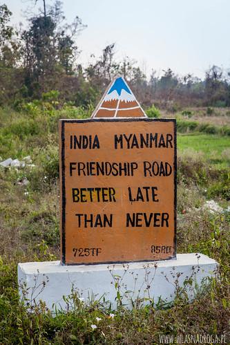 Jeden z licznych sloganów o przyjaźni pomiędzy sąsiednimi krajami