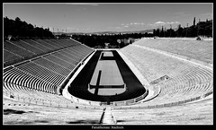 Panathenaic Stadium (Oguzhan Amsterdam) Tags: greece hellas athens panathenaic stadium black white bw monochrome oguzhan photography