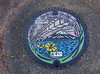 Manhole cover in Kawaguchi, Japan (phuong.sg@gmail.com) Tags: asphalt block bronze cast castle circle city cover dirty drain floor footpath fragment grate grid grungy heavy hole industrial iron japan kawaguchi lid manhole metal metallic old opening pavement road round rust rusty sewage sewer shape sidewalk steel street surface texture underground urban utility waste worn