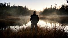 Contemplation (DJawZ) Tags: fuji fujix xt1 fujifilm contemplation serenity life amazing peaceful light dark silhouette morning sunrise east nj fall autumn mist fog water pond swamp