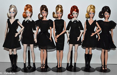 'Classic Black Dress' Collection (Chris & Lio) Tags: 2016 convention silkstone barbie articulated collector coleccin mueca robert best platinum madrid sdc spain convencin official milan paris roma lisbon japan classic black dress