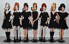 'Classic Black Dress' Collection (Chris & Lio) Tags: 2016 convention silkstone barbie articulated collector colección muñeca robert best platinum madrid sdc spain convención official milan paris roma lisbon japan classic black dress