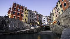 Riomaggiore (Ezio@Hsu) Tags: riomaggiore cinque terre italy sony a7rii sunset sea small town landscape