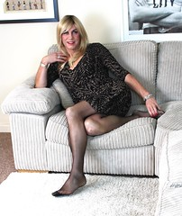 IMG_7177 (bethany_labelle) Tags: tgirl transvestite blonde wig nylons tights dress