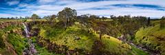 Bent (Marty Friedel) Tags: ballarat victoria waterfall landscape distance sky bush australia rocks outdoors green lush longexposure canyon clouds lallal au