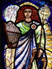 Blessed St Cecilia (Pippa Blackall, 2008) (Simon_K) Tags: west church st suffolk cathedral churches edmond eastanglia burystedmunds edmonds edmundsbury stedmundsbury