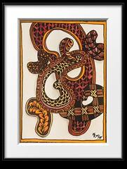 Zentangle Zeichnung - Tusche und Aquarell (marusaart) Tags: aquarell tusche zentangle