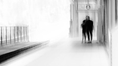 in transit encounter, Burnaby, BC (gks18) Tags: people blur station vancouver train canon waiting artist platform transit slowshutter impressions feeling skytrain intimate encounter cameramotion canon7d