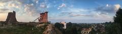 Novogrudok Panorama (lemmingby) Tags: blue sunset sky panorama castle church evening ruins panoramic belarus novogrudok navahrudak