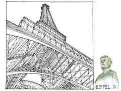 Tour Eiffel (gerard michel) Tags: paris france architecture sketch croquis