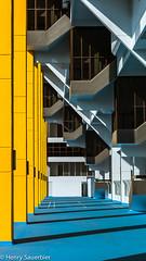 Walking through a sureal neighbourhood at the Golden Mile Complex. (Henry Sauerbier) Tags: architecture singapore brutalism archiporn goldenmilecomplex mysingapore