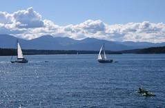 vessels (D70) Tags: canada clouds island boat kayak bc galiano columbia sit sail british channel trincomali