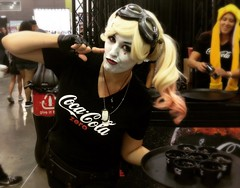 would you take a drink from this woman? (Luckykatt) Tags: costume cosplay cocacola cokezero harleyquinn luckykatt